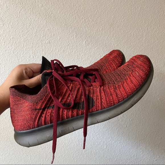Nike Other - Nike Free RN Flyknit red/black/grey Running shoes